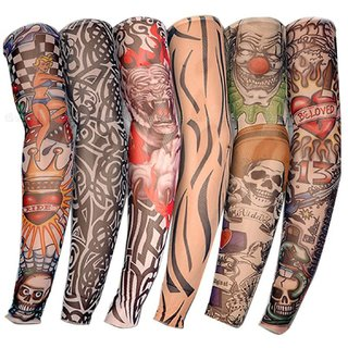 Hms Universal Sunlight Protection Wet & Dry Tattoo Arm Sleeves ( Assorted Designs - 1 Pair )