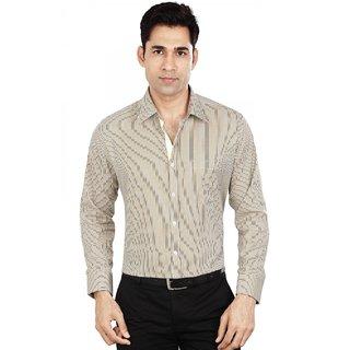 Dudlind Men's Beige Slim Fit Formal Shirt