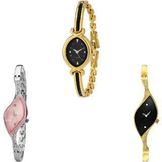 Neutron Classical Love  Analogue Gold And Silver Color Girls And Women Watch - G121-G405-G354 (Combo Of  3 )
