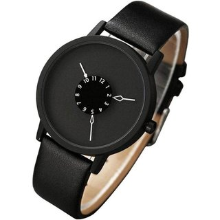 True Colors Black Casual Analog Metal Quartz Round Watch For Men