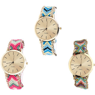 Neutron Classical Model  Analogue Multi Color Color Girls And Women Watch - G314-G317-G167 (Combo Of  3 )