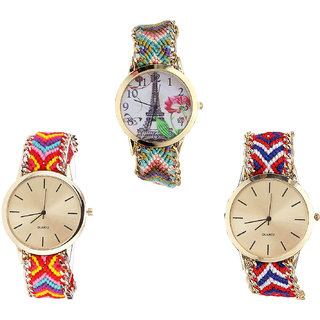 Neutron Latest Technology Paris Eiffel Tower Analogue Multi Color Color Girls And Women Watch - G146-G165-G168 (Combo Of  3 )