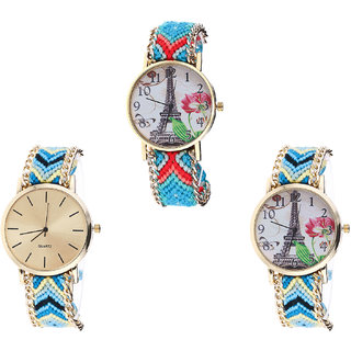 Neutron Contemporary Diwali Paris Eiffel Tower Analogue Multi Color Color Girls And Women Watch - G150-G314-G149 (Combo Of  3 )