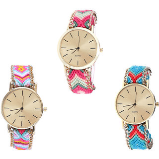 Neutron Treading Style  Analogue Multi Color Color Girls And Women Watch - G317-G319-G315 (Combo Of  3 )