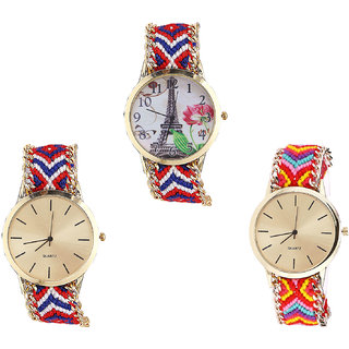 Neutron Classical Present Paris Eiffel Tower Analogue Multi Color Color Girls And Women Watch - G147-G168-G165 (Combo Of  3 )