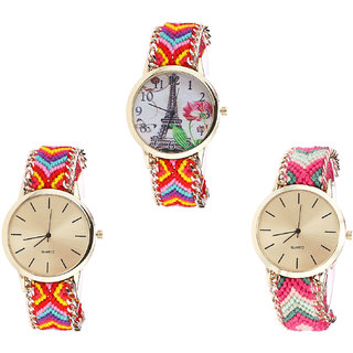 Neutron Treading Wrist  Paris Eiffel Tower Analogue Multi Color Color Girls And Women Watch - G144-G165-G317 (Combo Of  3 )