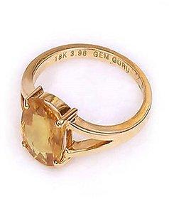 Yellow Sapphire Ring Natural Pukhraj Ceylonmine