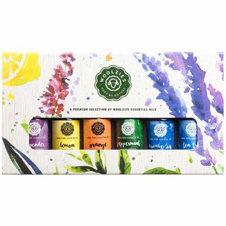 Woolzies Essential Oil Gift Set of 6 Most Popular Essential Oils 10 ML each