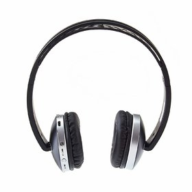 (Renewed) Envent Saber 300 Bluetooth Headphone with Mic and FM (Black)