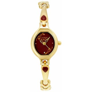 Titan Raga Analog Red Dial Womens Watch- NK2387YM07