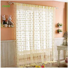 Angel Home Set of 2 Heart Curtain For Door (hrt5)