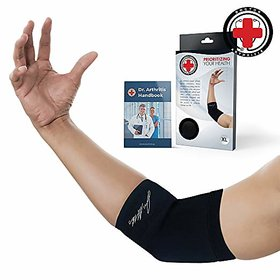 Doctor Developed Copper Infused Elbow Compression Sleeve and Doctor Written Handbook- RELIEF from Tennis/Golfers Elbow