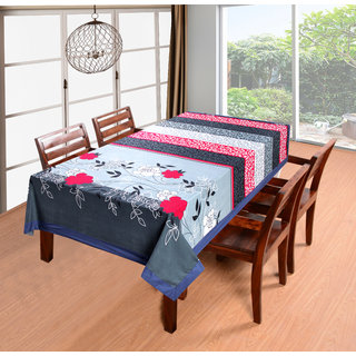 BSB Trendz Cotton Premium Printed 6 Seater Table Cover, 90x60-inch