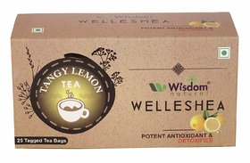 Wisdom Natural Tangy Lemon Green Tea - 25 Pcs