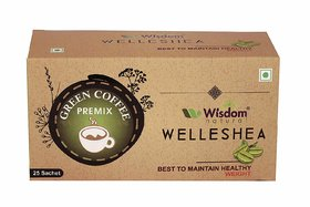 Wisdom Natural Green Coffee for Weight Management - 25 Sachets