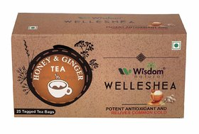 Wisdom Natural Honey  Ginger Green Tea -25 Pcs