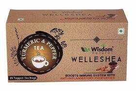 Wisdom Natural Turmeric  Pepper Green Tea - 25 Pcs
