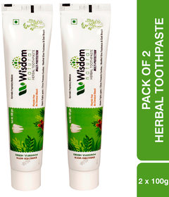 Wisdom Natural Multi-Protection Strong Teeth Anti-Cavity Herbal Toothpaste-100 gm