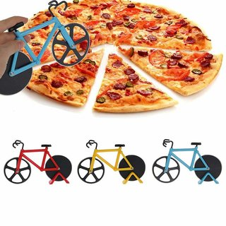 Unique Bicycle Shape Pizza Cutter for Sandwiches Garlic Ginger Herbs Pie Pastries
