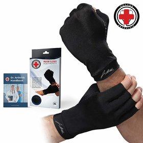 Doctor Developed Copper Gloves Compression Gloves For Arthritis and DOCTOR WRITTEN HANDBOOK -Relieve Arthritis Symptoms