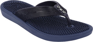 DzVR Unisex Blue Acupressure Health Care Rubber Flip Flops