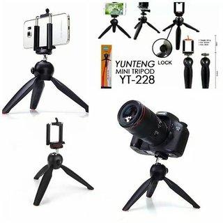 Tick-tok Flexible Tripod For Smart Mobile Phone YT288  Camera (Black)