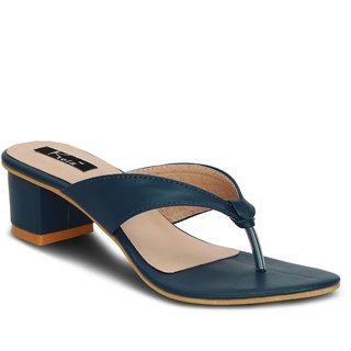Kielz-Navy-Slip-On-Block Heel-Women's-Sandals