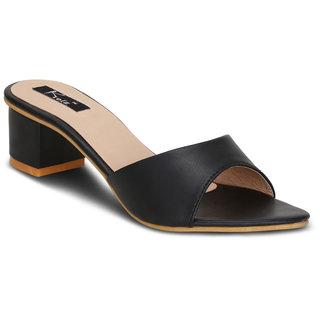 Buy Kielz-Black-Slip-On-Block Heel