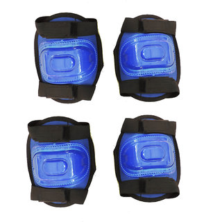 Hipkoo Protective Guard Set Of 2 (Elbow Knee Guard) Cycling Kit Skating Guard Combo (Blue)