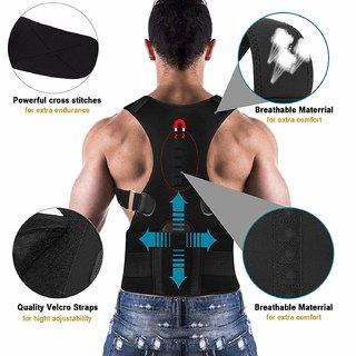 Real Doctor Magnetic Therapy Posture Corrector, Shoulder Back Support Belt for Men and Women