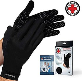Dr. Arthritis Doctor-Developed Copper Compression Full-Length Gloves and Doctor Written Handbook(PAIR)
