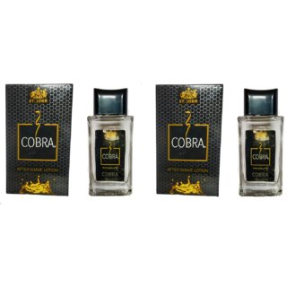 St John Cobra After Shave Lotion 50ml each Pack Of 2