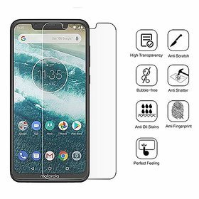 Full Screen Curved Edge To Edge Screen Protection Tempered Glass for Moto One Power (Pack 1)