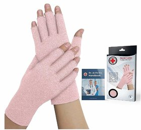Dr. Arthritis Women Arthritis Gloves with Soft Compression  Doctor Written Handbook - for Arthritis, Raynauds, Carpal