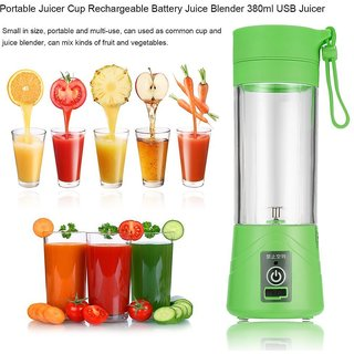 ShutterBugs Portable Usb Electric And Rechargeable Juicer Mixer Grinder Juice Blender Juice Cup (1 Jar)