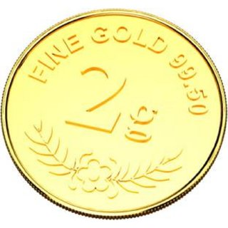 Guarantee Ornament House 2g pure Gold Coin hallmarked 24kt Gold with Govt certified hallmark