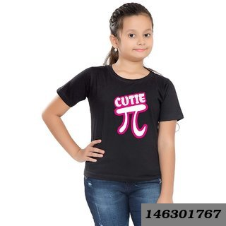 Cotton Printed T-Shirt For Girls - Cutie