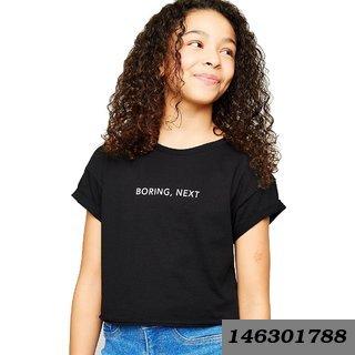Cotton Printed T-Shirt For Girls - Boring Next