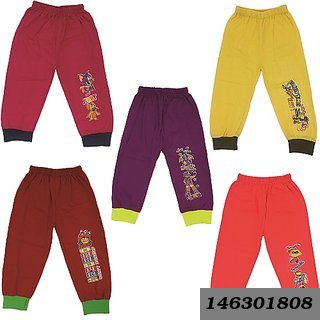 Kids Cotton Track Pant Pack Of 5 (Till 5 Years )