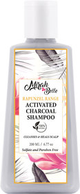 Mirah Belle - Activated Charcoal Shampoo - 200 ml - Cleansing  Healing Scalp Infections - Sulfate  Paraben Free