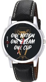 One Nation One Dream One Cup Graphic Wrist Watch For Men's R-9091