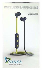 Syska H-15 Bluetooth Headset with Mic (yellow)