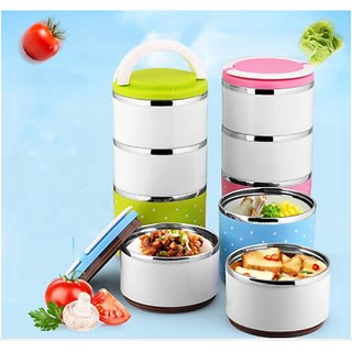3 Layer branded lunch box Stainless Steel / lunch box for Gift /lunch box insulated / lunch box in stainless steel