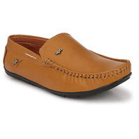 KLEVER KICKS Men's Tan Loafers Synthetic Loafers /Casual Shoes/Shoes for Men's Loafers Loafers /Unique Loafers 6UK