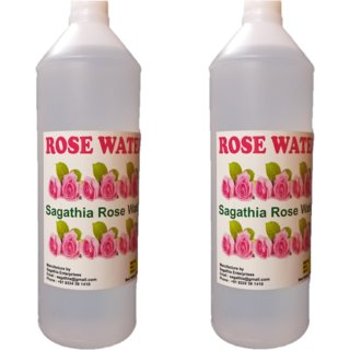 Sagathia Rose Water for Makeup Remover 500ml Pack of 2 Buy 1 Get 1 Free