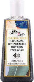 Mirah Belle - Charcoal Oily Skin Face Wash (200 ml) - For Healing Acne, Pimples, Scars, Blemishes  Breakouts.
