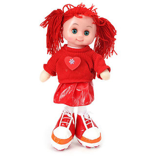 UNIQUE- 12 INCH RED COLOR MUSICAL SWEET DOLL- BEST PRODUCT FOR UR CUTE PRINCESS