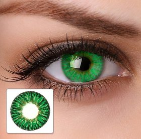 Eye Monthly Disposable Color Contact Lens Without Power Green
