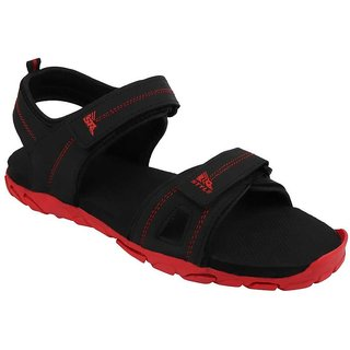 NXGEN Mens Red::Black Atheletic Outdoor Casual Floaters SportsSandals