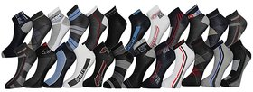 iLiv Men's Cotton Sports Ankle Socks Set of 12